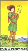 Tarot Meanings - Page of Pentacles