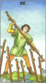Tarot Meanings - Seven of Wands